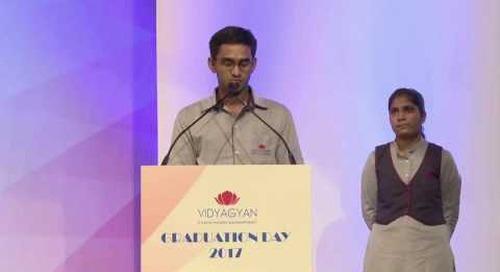 VidyaGyan Graduation Day 2017 | Saurabh
