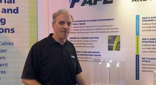 Bill talking specialty optical fiber at OTC 2019