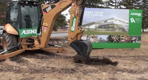 Algonquin College community excited to break ground for the new Student Commons