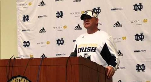 Brian Kelly Post-Practice (3-19-14)