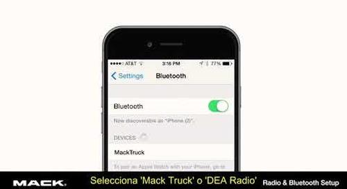 Radio and Bluetooth Setup (Spanish)