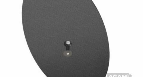 AGAM Small Oval Floor Base Using 625 Stem 104