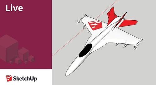 Live Modeling a Boeing F18E Super Hornet (Top Gun)