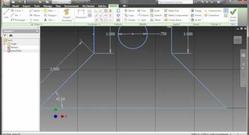 Inventor 2011 - Sketching Enhanements
