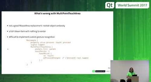 QtWS17 - Pointer Handlers for fluid applications in Qt Quick, Shawn Rutledge, The Qt Company
