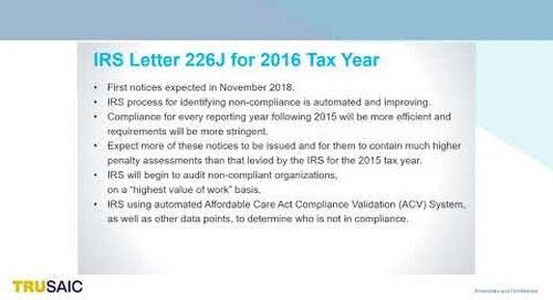 Webinar   What You Need to Know About New IRS Letters 226J for the 2016 Tax Year - Webinar Trusaic
