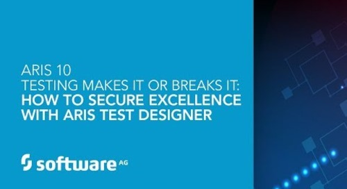 DEMO: Testing Makes it or Breaks It How to Secure Excellence with ARIS Test Designer