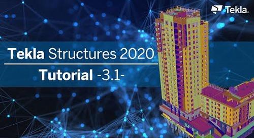 Tutorial Tekla Structures 2020 |  3.1 Dach- und Zwischenebene detaillieren