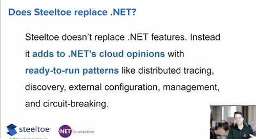 Tanzu Tuesdays - Getting Started with Steeltoe and .NET Microservices with David Dieruf