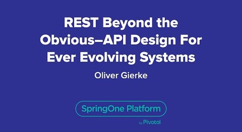 REST Beyond the Obvious - API Design for Ever-Evolving Systems