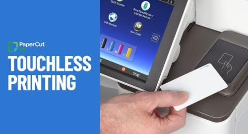 Touchless Printing with PaperCut