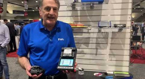 Doug at OFC 2019 talks Fujikura 41S Fusion Splicer