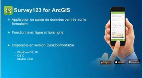 Les applications mobiles dans la plateforme collaborative ArcGIS