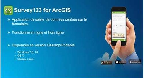 Les applications mobiles dans la plateforme collaborative ArcGIS