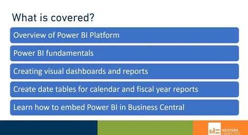 D365 BC Reporting: Power BI Fundamentals Training | Western Computer