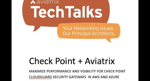 TechTalk | Maximize Performance & Visibility for Check Point CloudGuard in AWS & Azure