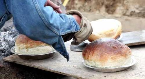 Baking paska for Dauphin, Manitoba's Ukrainian Festival