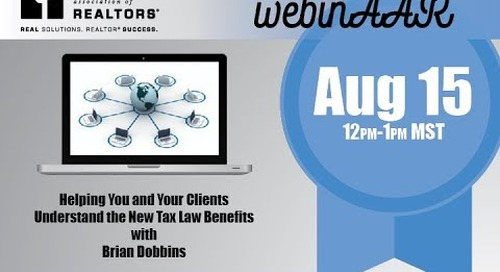 Helping You and Your Client Understand the New Tax Law Benefits