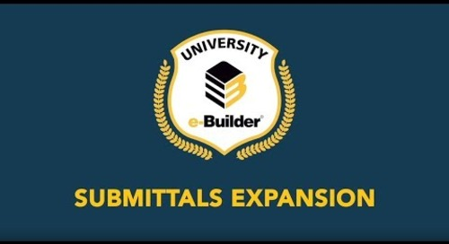 Training Videos On-Demand: Submittals Expansion