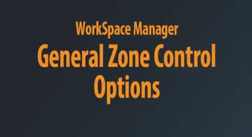 WorkSpace Manager - Zone Control Chaptered