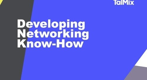 Developing personal networking know-how