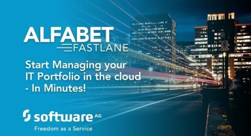 Alfabet FastLane - Start managing your IT portfolio in the cloud—in minutes!
