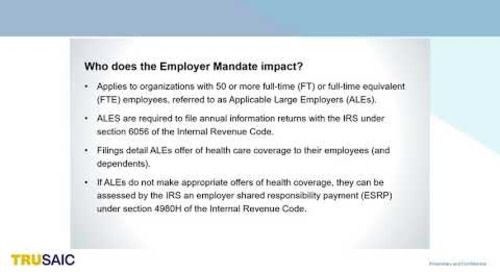Improve Your ACA Compliance to Avoid IRS Financial Penalties - Webinar Trusaic
