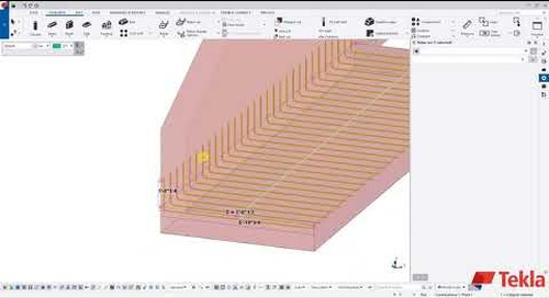 Utility Precast with Tekla Structures – Video 4 (Wing Wall Reinforcement)