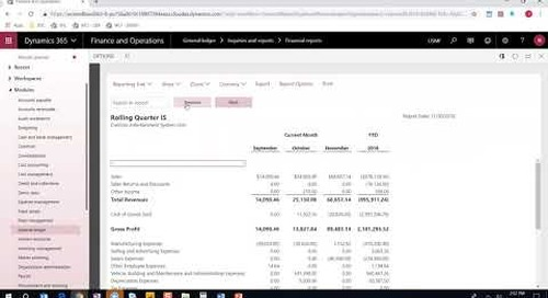 Financial Reports in D365 Finance and Operations