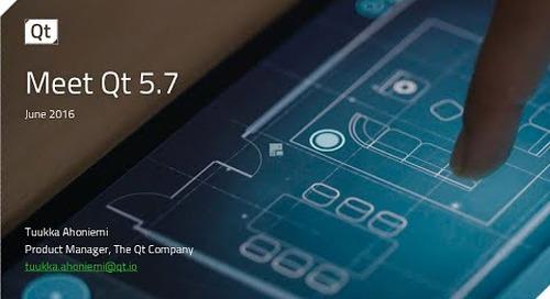 Meet Qt 5.7