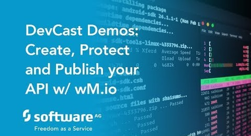 DevCast: How to create, protect and publish an API with webMethods.io API