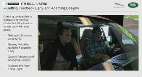 QtWS16- Bringing New Experiences to Automotive Consumers, Ben Ellis, Jaguar Land Rover