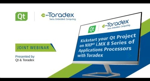 Kickstart your Qt Project on NXP i.MX 8 Series Application Processors {On-demand webinar}