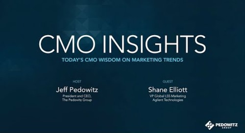 CMO Insights: Shane Elliott, VP Global Laboratory Solutions Sales (LSS)