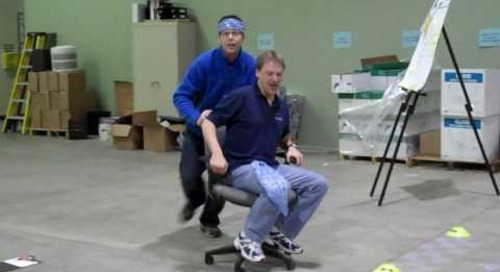 Baudville Employee Appreciation Day Chair Luge Blue Team