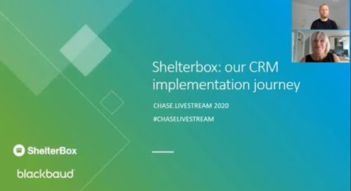 Shelterbox: our CRM implementation journey