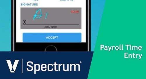 Signature Entry for Spectrum Payroll Time Entry