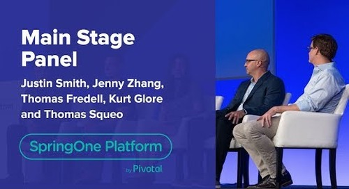 Express Scripts, Mastercard, Merrill Corp, and West Corp. at SpringOne Platform 2018