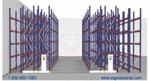 Mobile Pallet Rack Shelving Systems For Warehouse