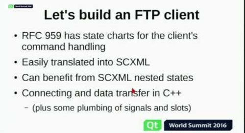 QtWS16- Qt SCXML: State Machines Made Easier, Ulf Hermann, The Qt Company