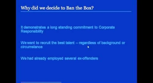 How to Ban the Box - Juliet Holden, Freshfields speaks about Ban the Box in a regulated industry