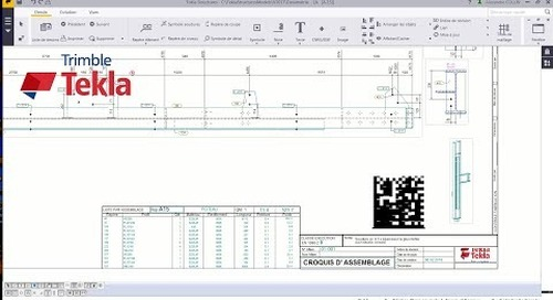Astuce Tekla Structures : Data Matrix Tutoriel