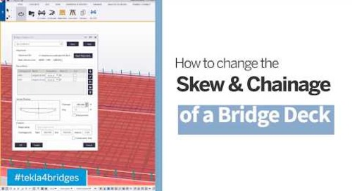 How to Change the Skew and Chainage of a Reinforced Concrete Double Curved Bridge Deck?