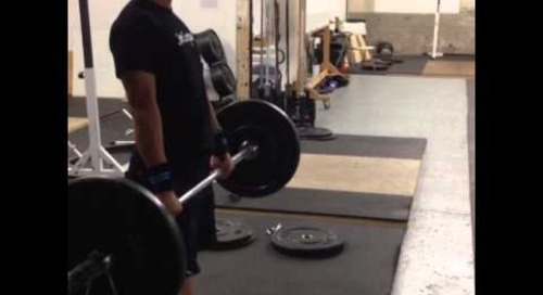 Olympic Weightlifting - Hang Clean practice - September 12, 2013