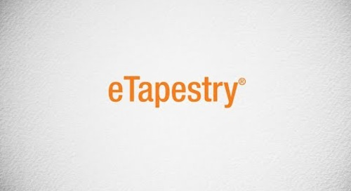 eTapestry - Cloud Fundraising for Small Not for Profits