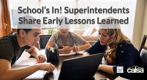 Schools in Superintendents Share Early Lessons Learned