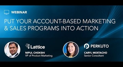 Webinar: Put Your Account Based Marketing & Sales Programs Into Action