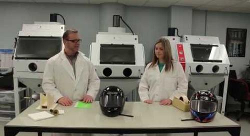 S2 E4: Sandblast a Motorcycle Helmet   Will It Blast?