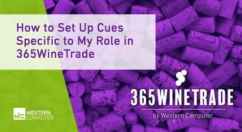 How to Set Up Cues Specific to My Role in 365WineTrade | 365WineTrade