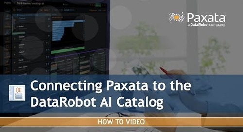 Connecting Paxata to the DataRobot AI Catalog